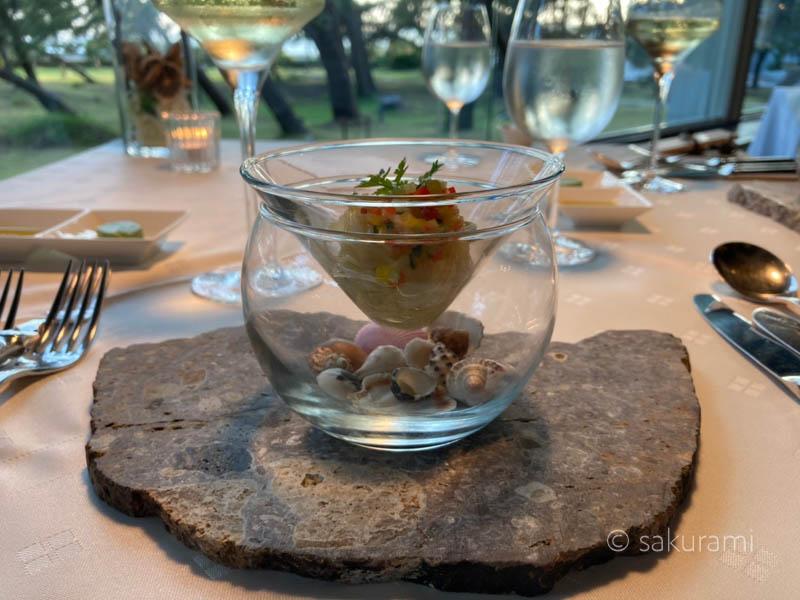 浦島の魅力3.三ッ星レストランの料理が美味しい